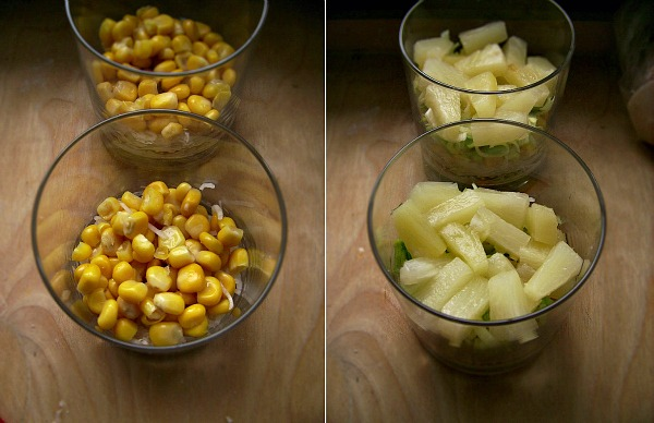 Treściwa sałatka warstwowa z jajkiem i szynką