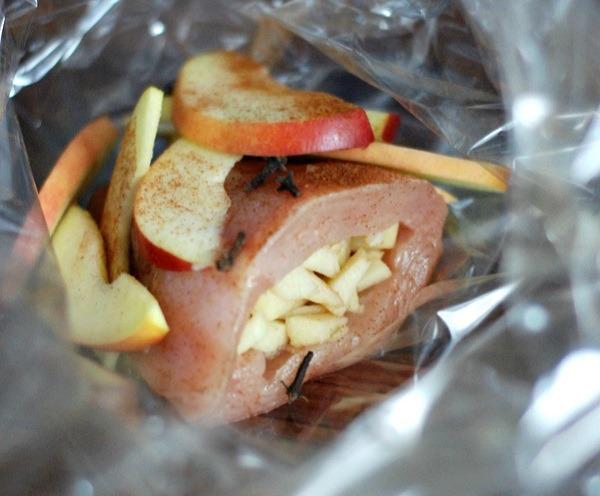 Pieczony kurczak faszerowany jabłkiem2