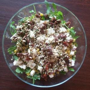 salatka z feta i rukola