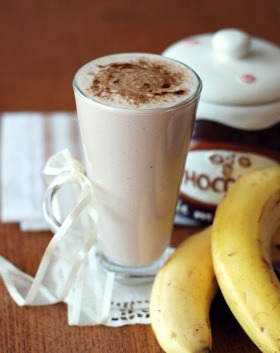 Koktajl bananowo kakaowy