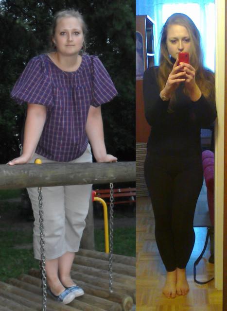 Marta przed i po diecie